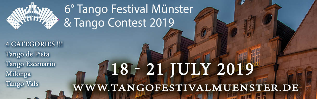 TANGO FESTIVAL MÜNSTER & TANGO CONTEST 31. MAY - 3 JUNE 2018